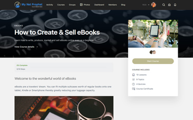 Create and Sell eBooks