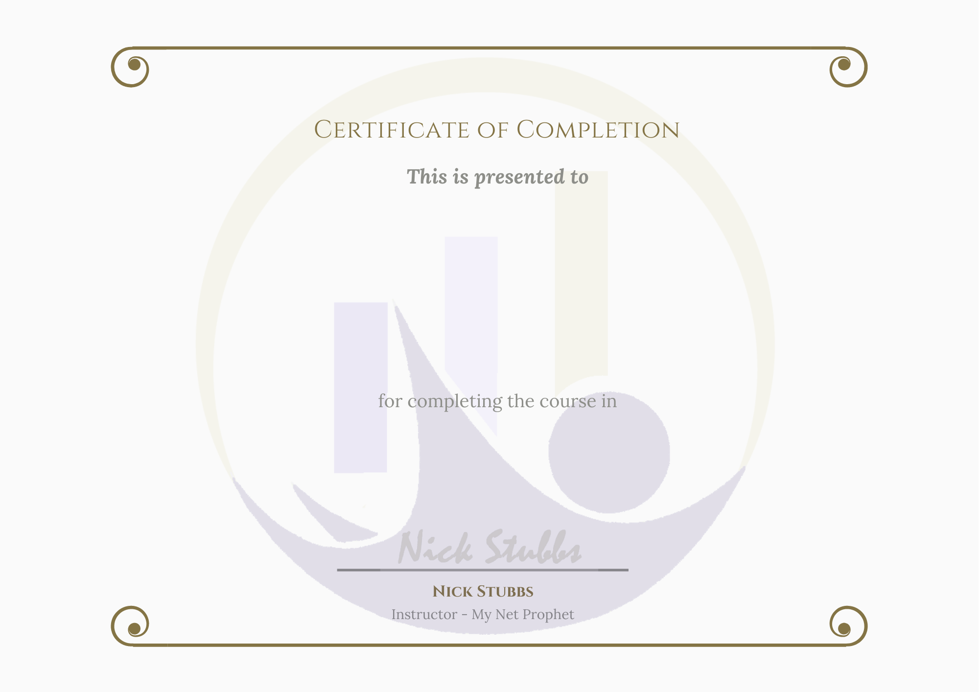 Stock Video Certificate of Completion