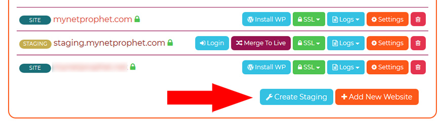 Creating a Staging Site with WordPress and WPX
